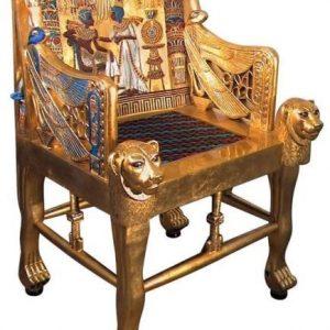 Trono de oro del Faraón Tutankhamón