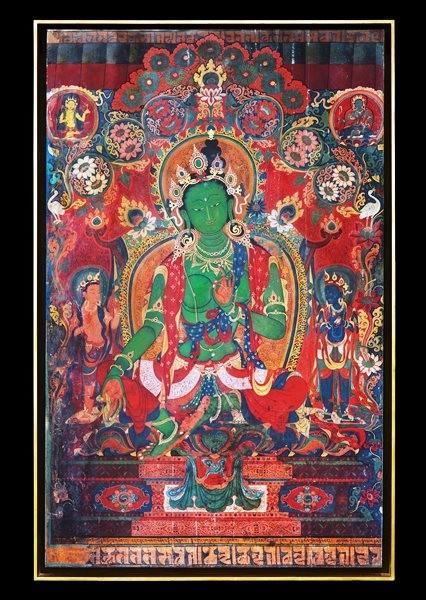 Thomas Laird. Murals of Tibet, Art Edition No. 41–80 'Green Tara, Gyantse Kumbum (ca. 1420)'