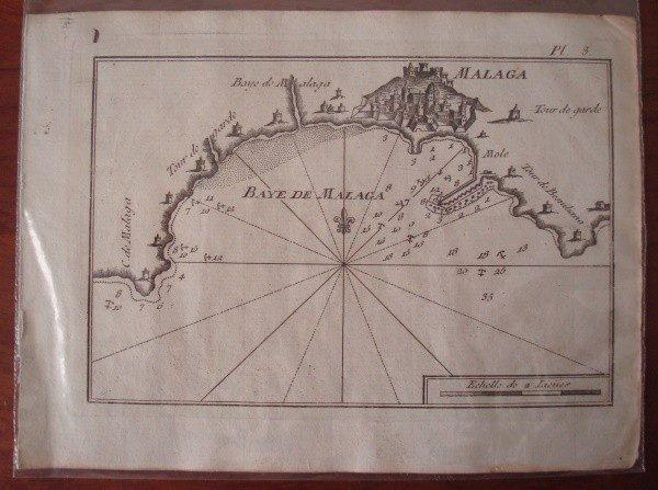 Mapa de la Bahía de Málaga, c. 1780