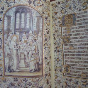 Libro de Horas de la Reina Doña Leonor de Portugal, s. XV, con libro estudio